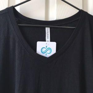 Infinity Raine Dresses - Black T-Shirt Dress with Pockets